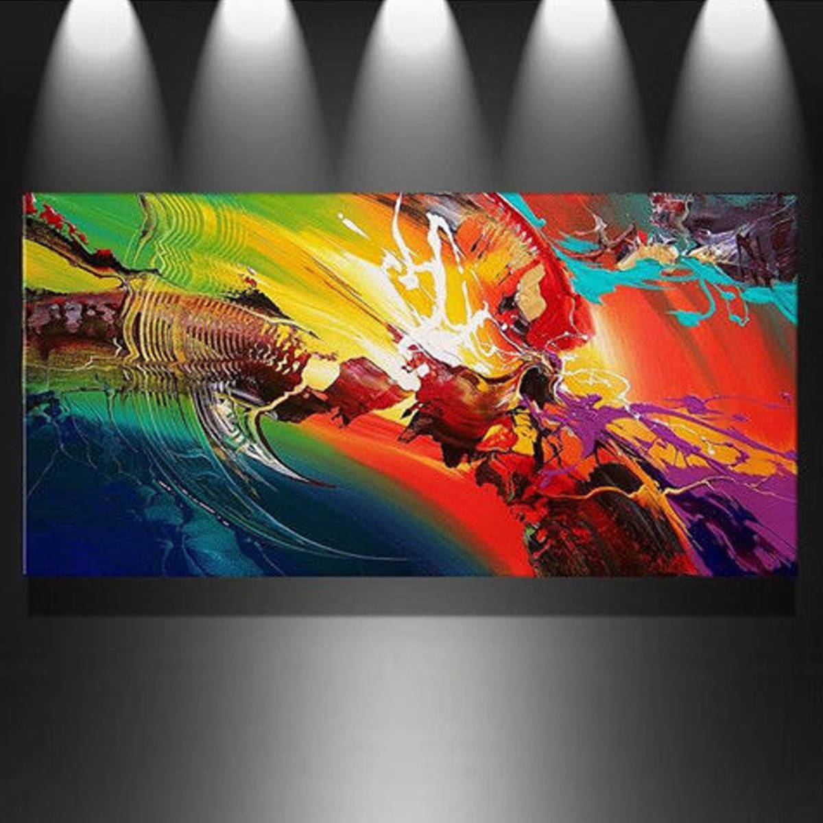 Unframed/framed Modern Canvas Oil Painting Print Picture Wall Art For Current Electronic Wall Art (Gallery 19 of 25)