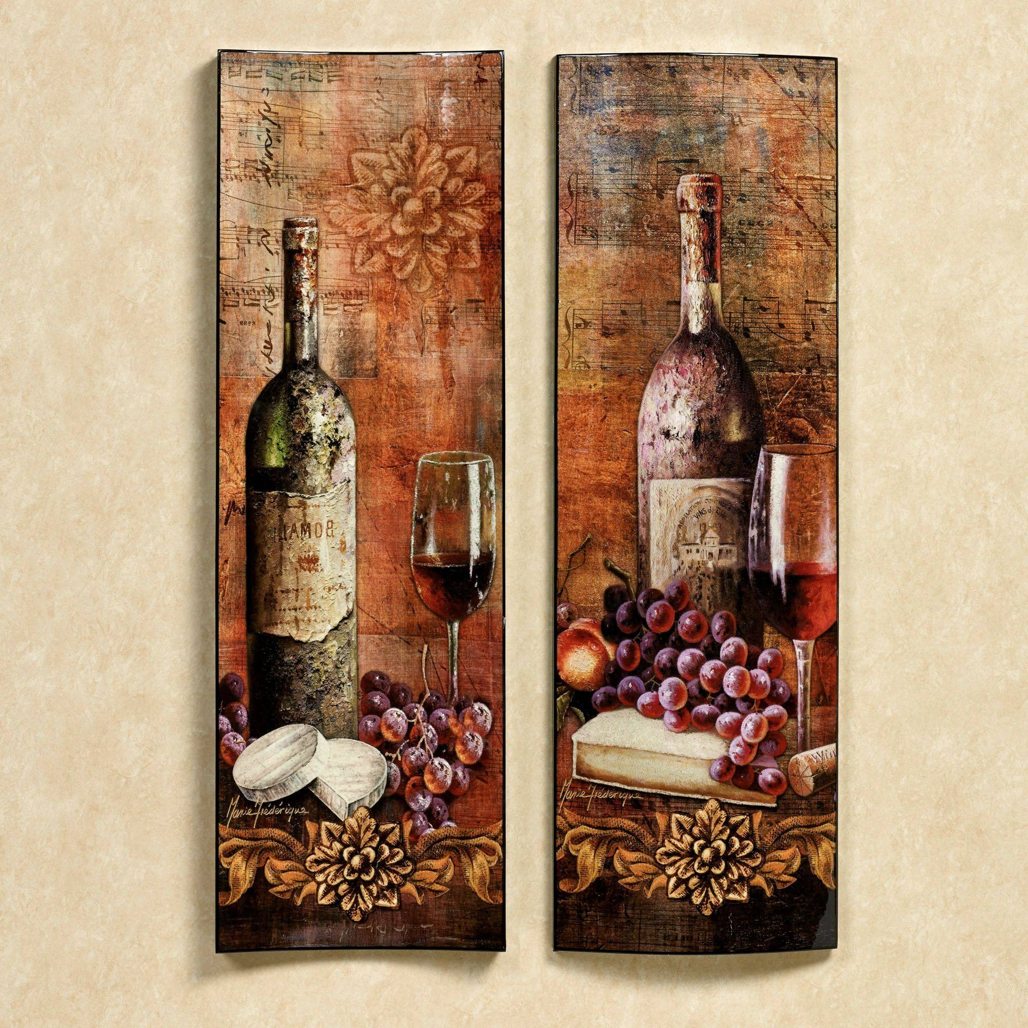 Unique Kitchen Curtains Wine Theme | Khetkrong Pertaining To Current Wine Theme Wall Art (View 8 of 20)