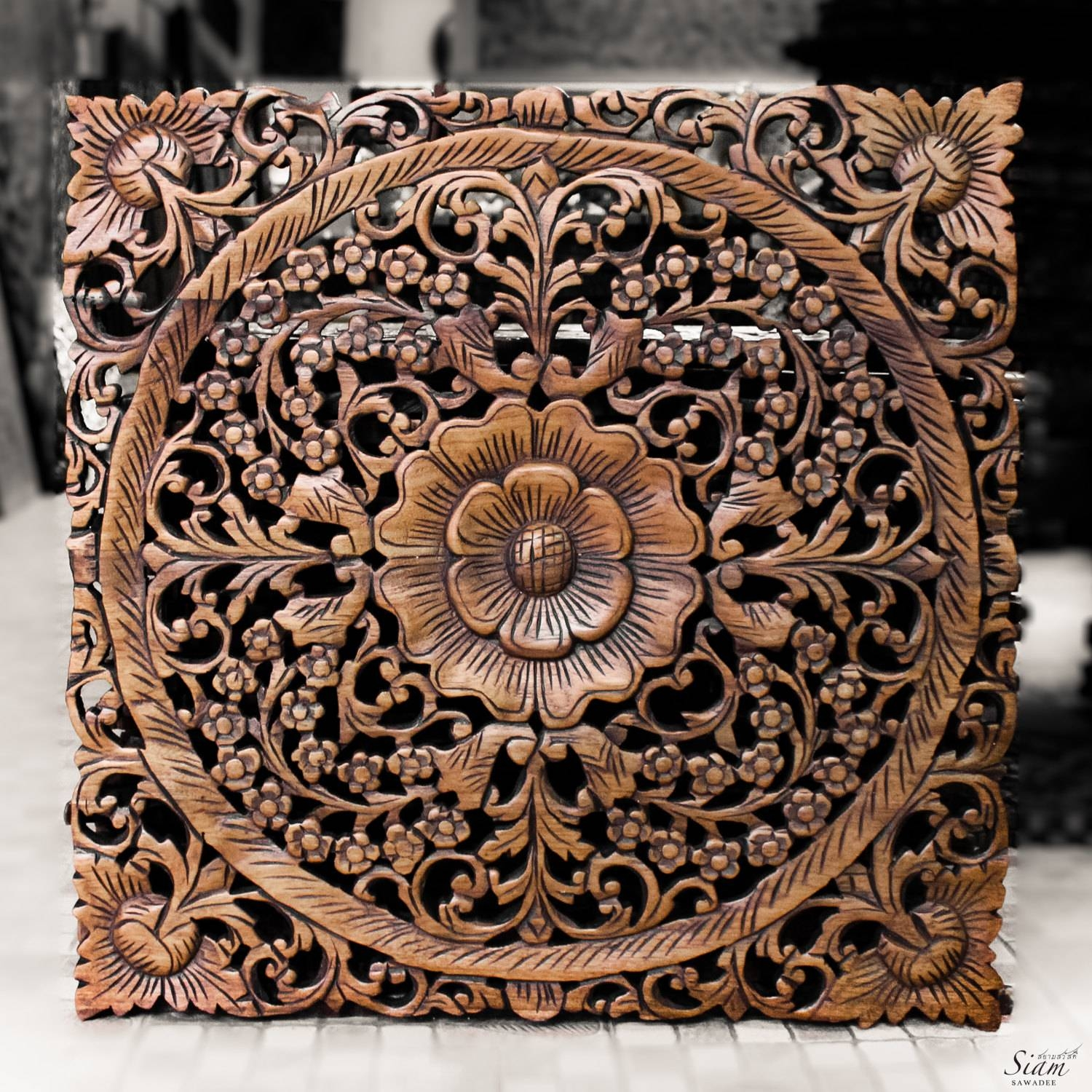 Unique Wood Panel System Decorating Wood Panelling Panels Design throughout Most Popular Asian Metal Wall Art