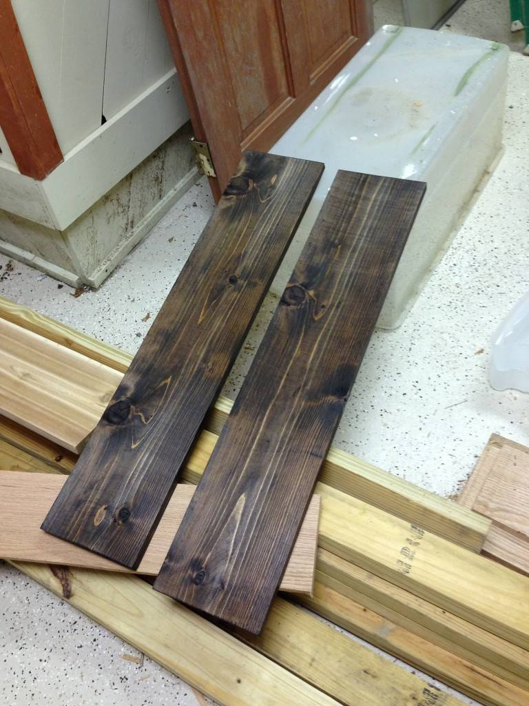 Using Stained Wood To Complement Wall Art - Coreyms pertaining to Most Up-to-Date Dark Wood Wall Art