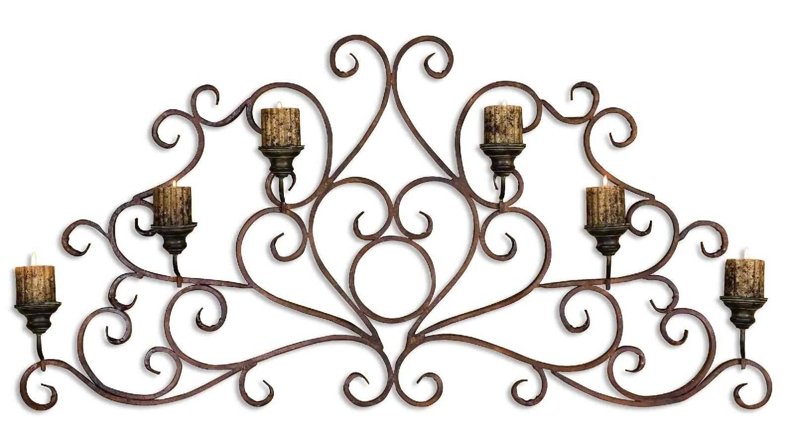 Uttermost Juliana Metal Wall Art Sconce | Rug Super Center intended for 2017 Uttermost Metal Wall Art