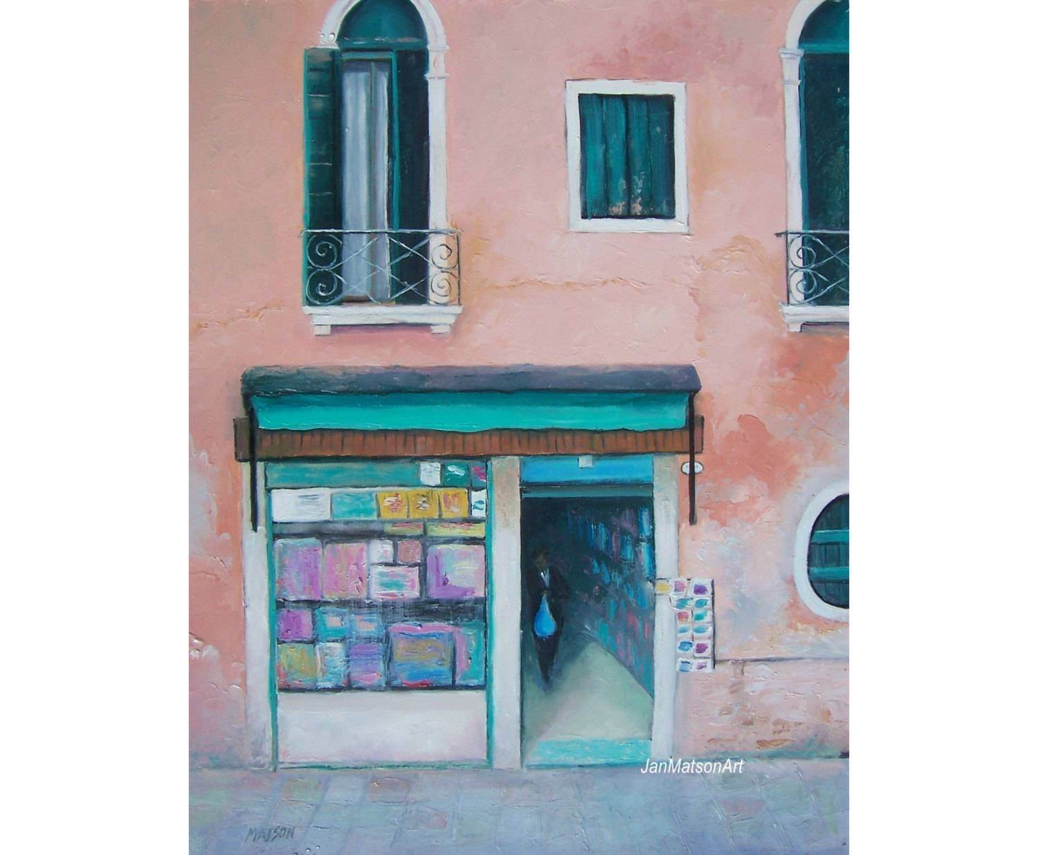 Venice Art Italy Painting Italy Street Scene Italian inside Most Current Street Scene Wall Art