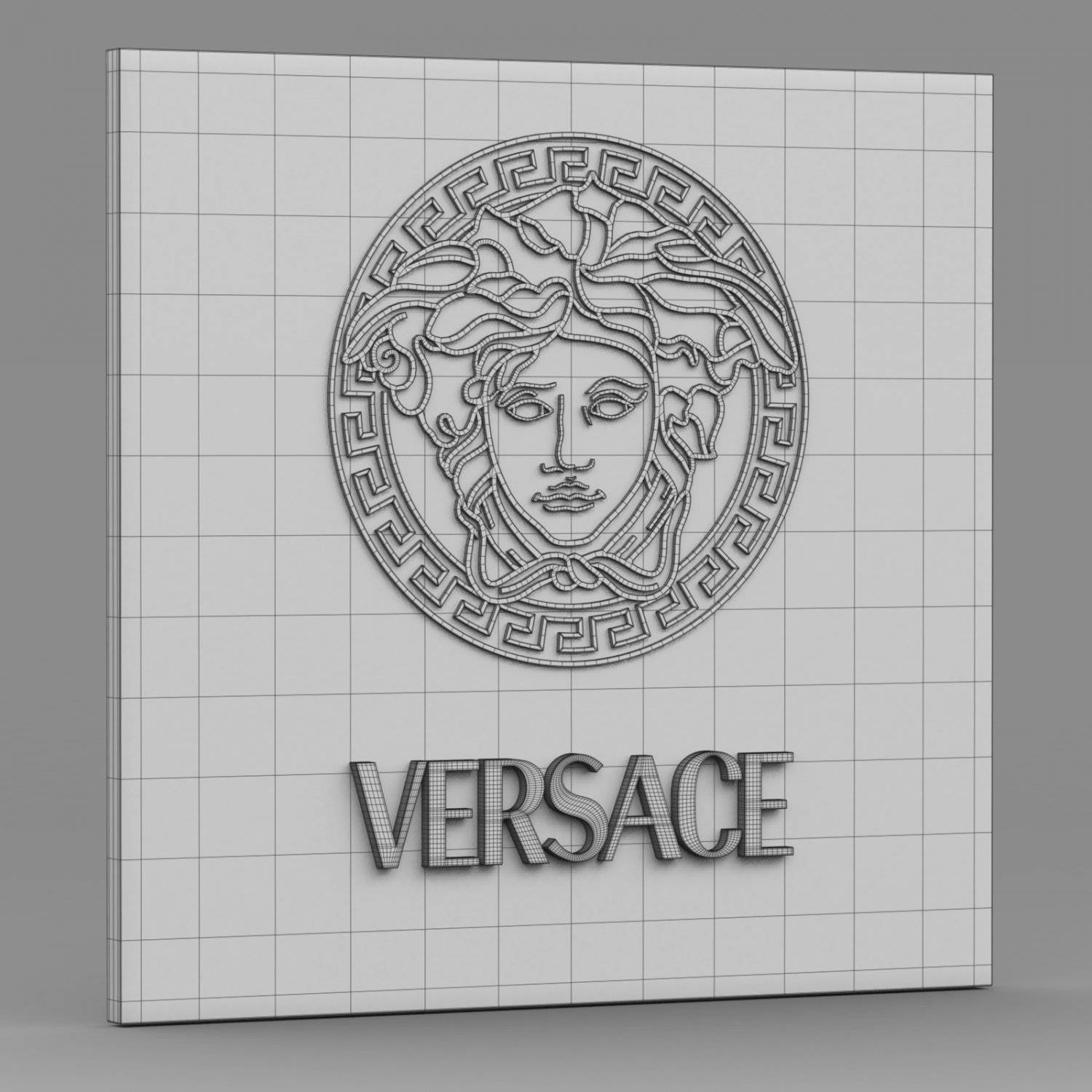Versace Logo 2 3D Model In Clothing 3Dexport Inside Latest Versace Wall Art (Gallery 14 of 20)