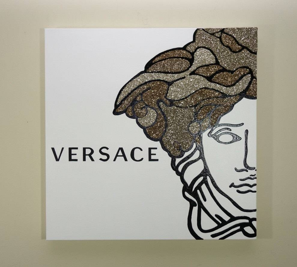 Versace Medusa Painting 24X24 Versace Inspired Pop Art inside Most Up-to-Date Versace Wall Art