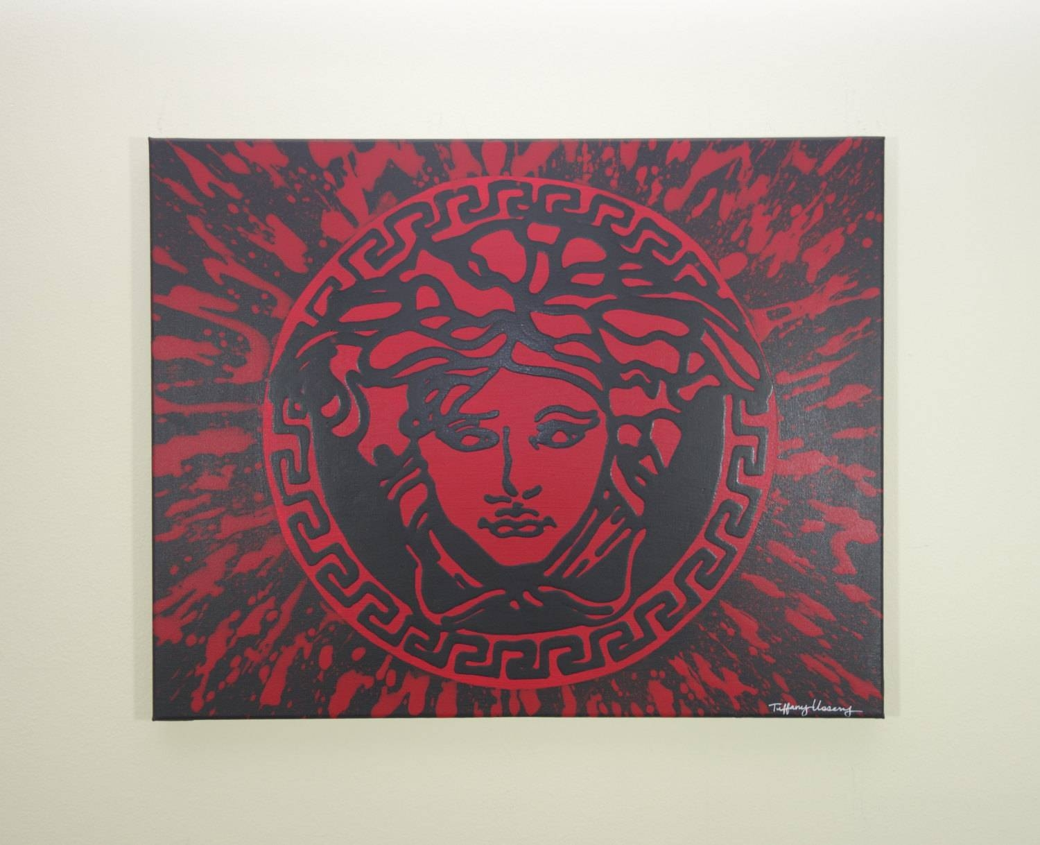 Versace Medusa Painting 24X24 Versace Inspired Pop Art regarding Most Current Versace Wall Art