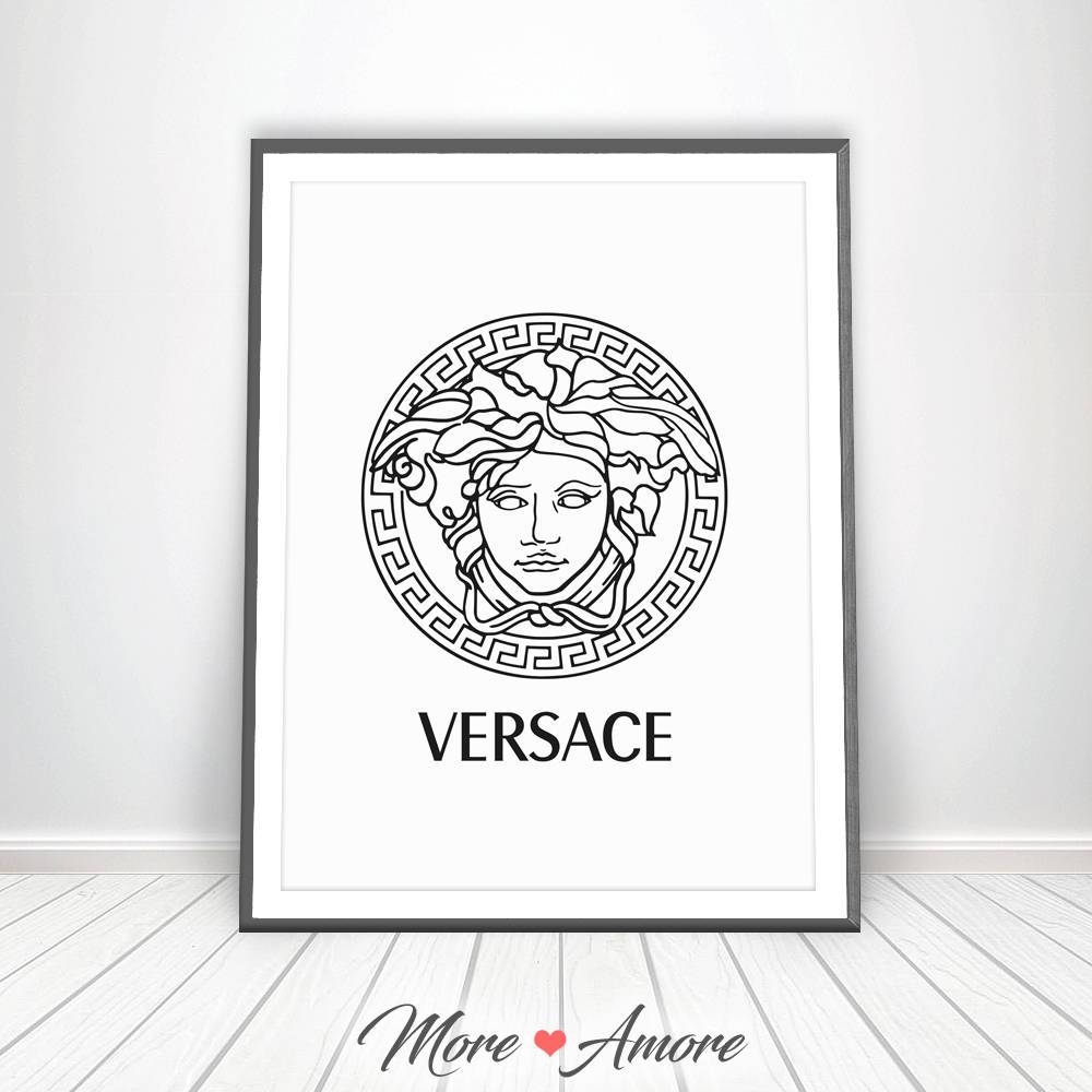 Versace Print Gianni Versace Logo Medusa Head Affiche In Most Current Versace Wall Art (View 17 of 20)