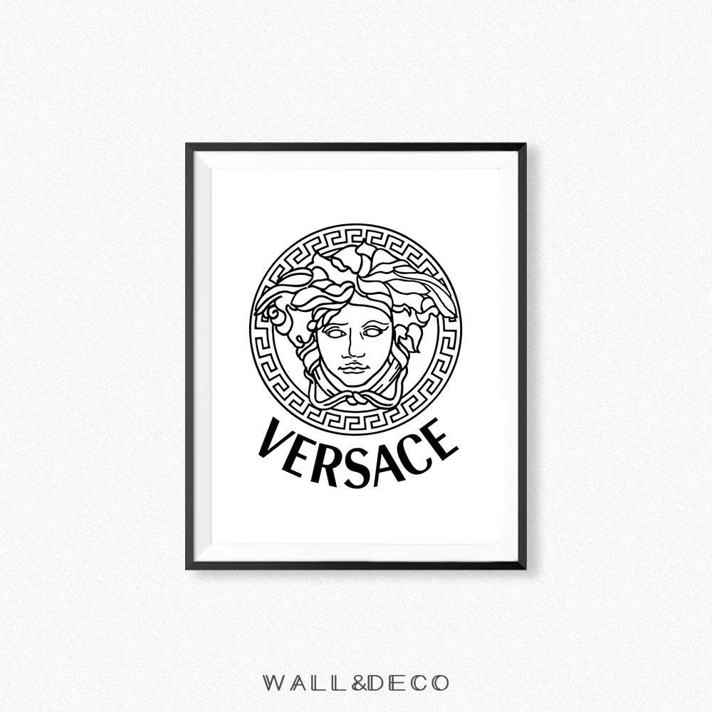 Versace Print Versace Logo Wall Art Fashion Print Fashion With Most Current Versace Wall Art (Gallery 4 of 20)