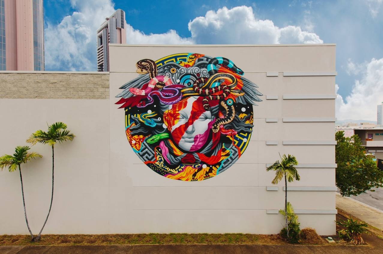 Versace Wall | Pow! Wow! Hawaiipow! Wow! Hawaii inside Best and Newest Versace Wall Art