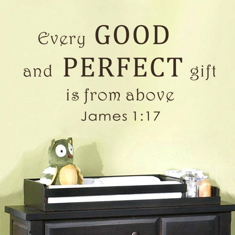 Verse Wall Decals – Gutesleben Within Most Popular Nursery Bible Verses Wall Decals (View 17 of 25)