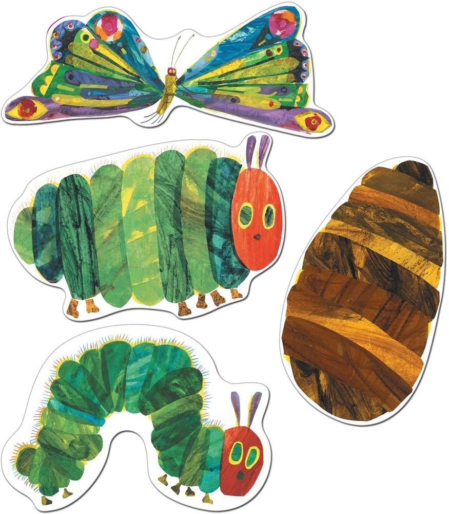 Very Hungry Caterpillar Cut Out Decorations | The Eric Carle Pertaining To Most Recent The Very Hungry Caterpillar Wall Art (View 7 of 25)