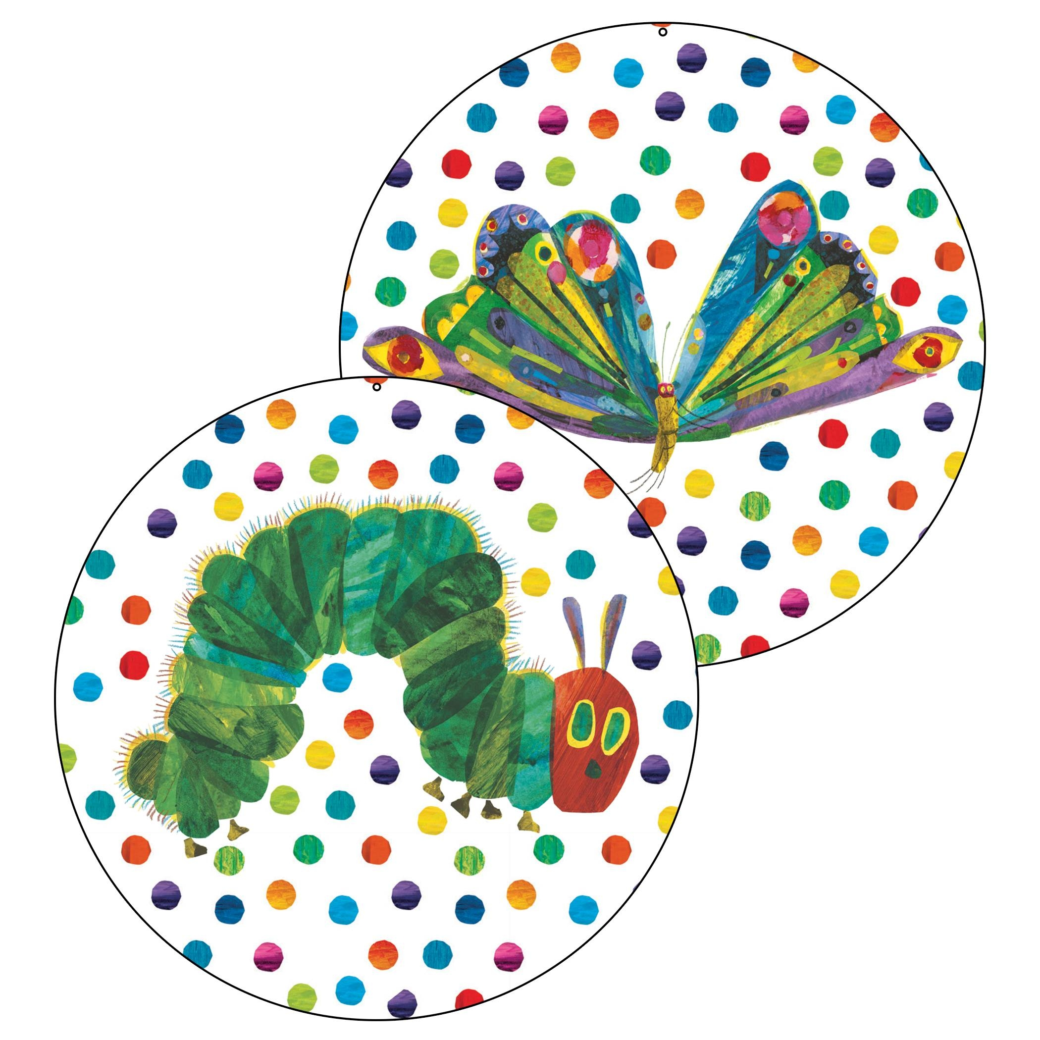 Very Hungry Caterpillar Jumbo Circle Decoration | The Eric Carle Inside Best And Newest Very Hungry Caterpillar Wall Art (View 17 of 20)