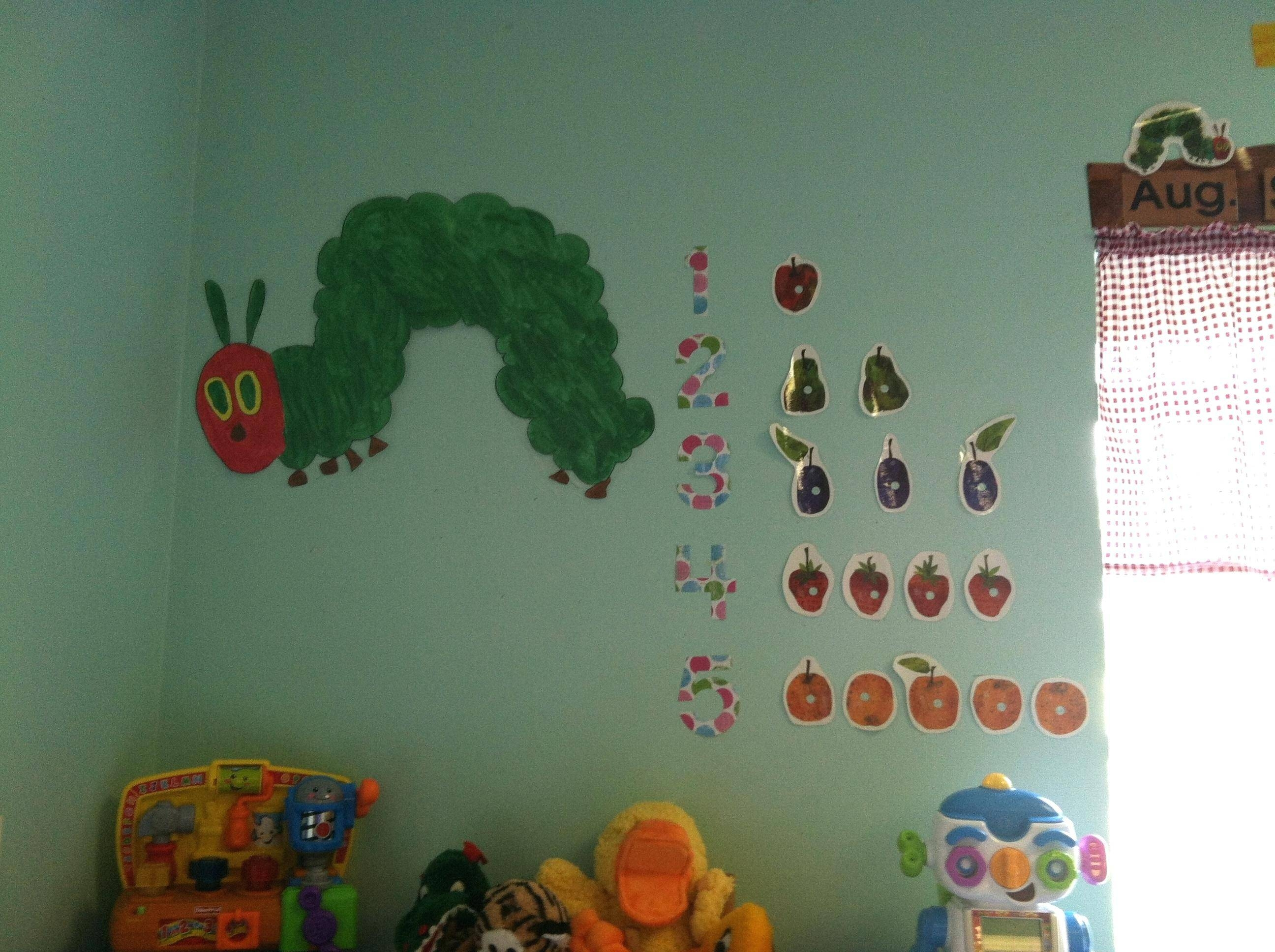Very Hungry Caterpillar Wall Decals The Very Hungry Caterpillar In Latest The Very Hungry Caterpillar Wall Art (View 23 of 25)
