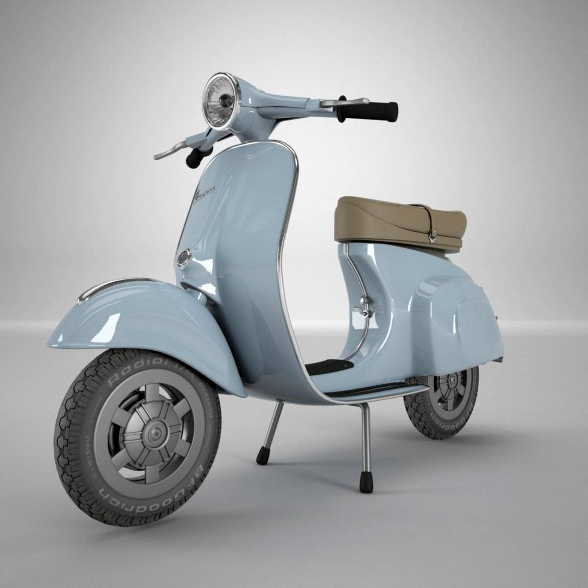 Vespa 3D Model In Motorcycle 3Dexport Intended For Latest Vespa 3D Wall Art (Gallery 5 of 20)