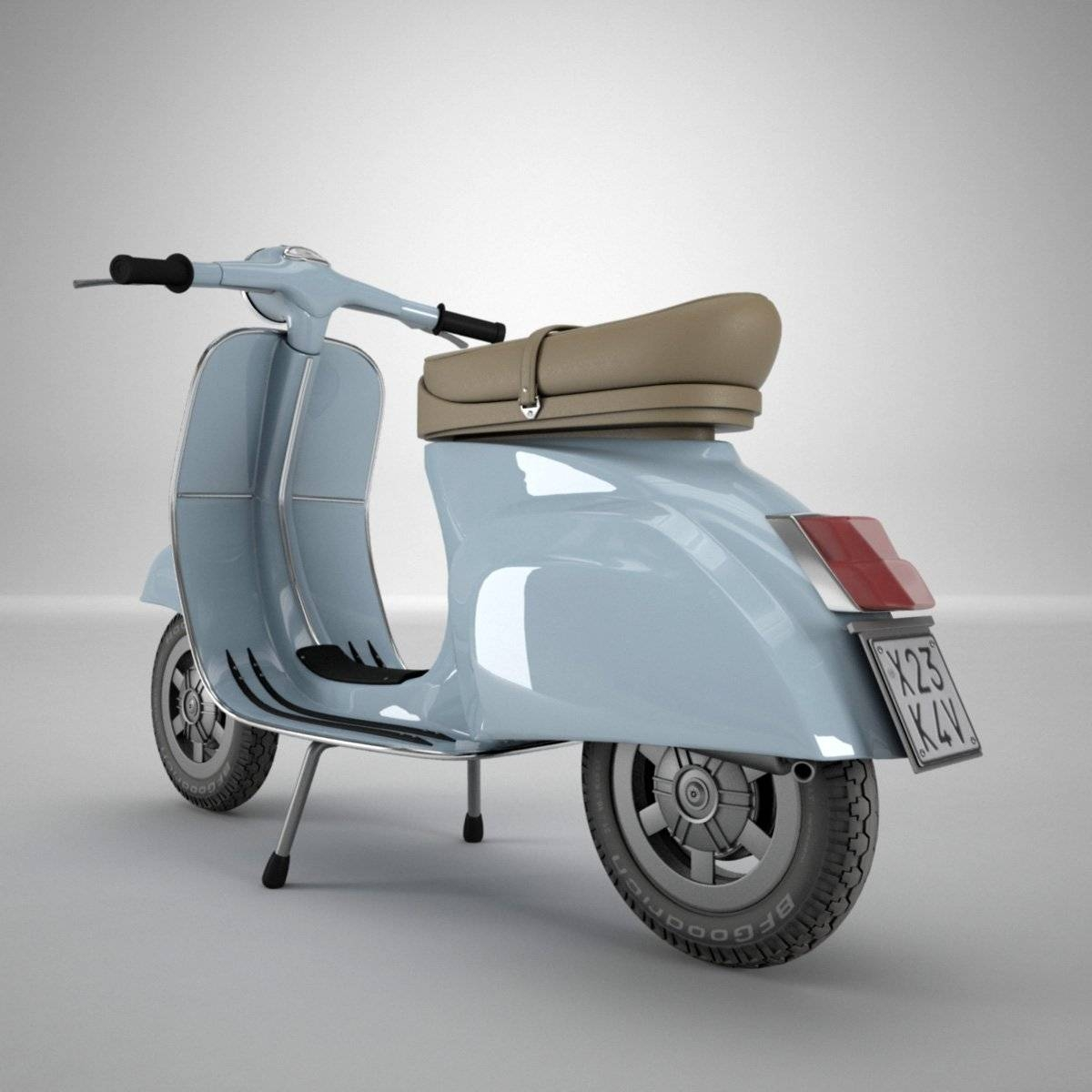 Vespa 3D Model In Motorcycle 3Dexport With Regard To 2017 Vespa 3D Wall Art (View 15 of 20)
