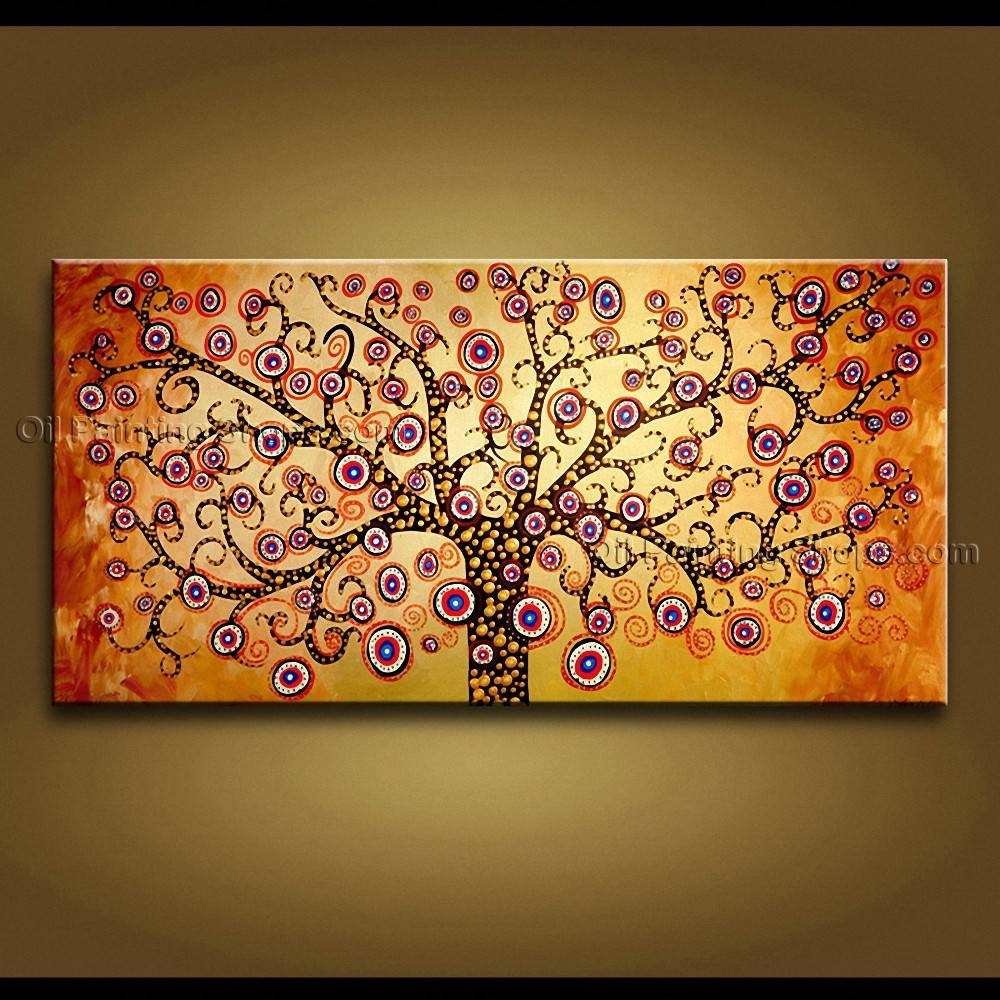 Vibrant Contemporary Wall Art Hand Painted Wall Art Living Room With Most Popular Vibrant Wall Art (Gallery 8 of 20)