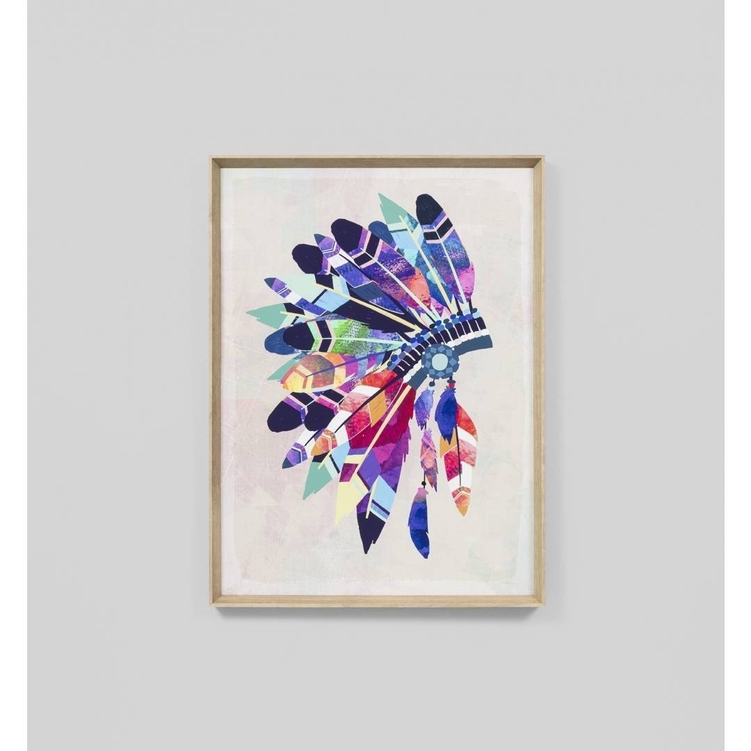Vibrant Headdress Wall Art Print | Interior Secrets Throughout Most Popular Vibrant Wall Art (Gallery 2 of 20)