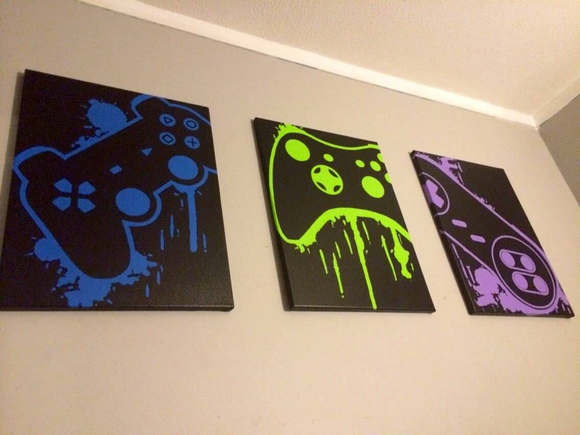 Video Game Controller Art In 2017 Video Game Wall Art (Gallery 1 of 30)