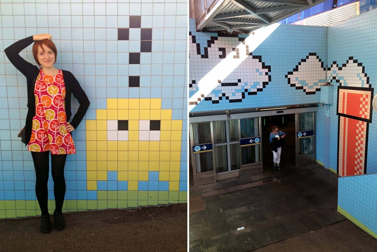 Video Game Mosaic Pixel Art Subway Station In Stockholm | Cute Travels Regarding Current Pixel Mosaic Wall Art (View 17 of 20)