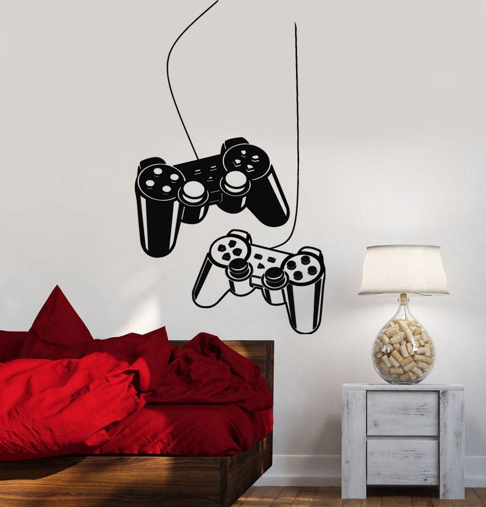 Video Game Wall Decals | Ebay Inside Recent Video Game Wall Art (View 26 of 30)
