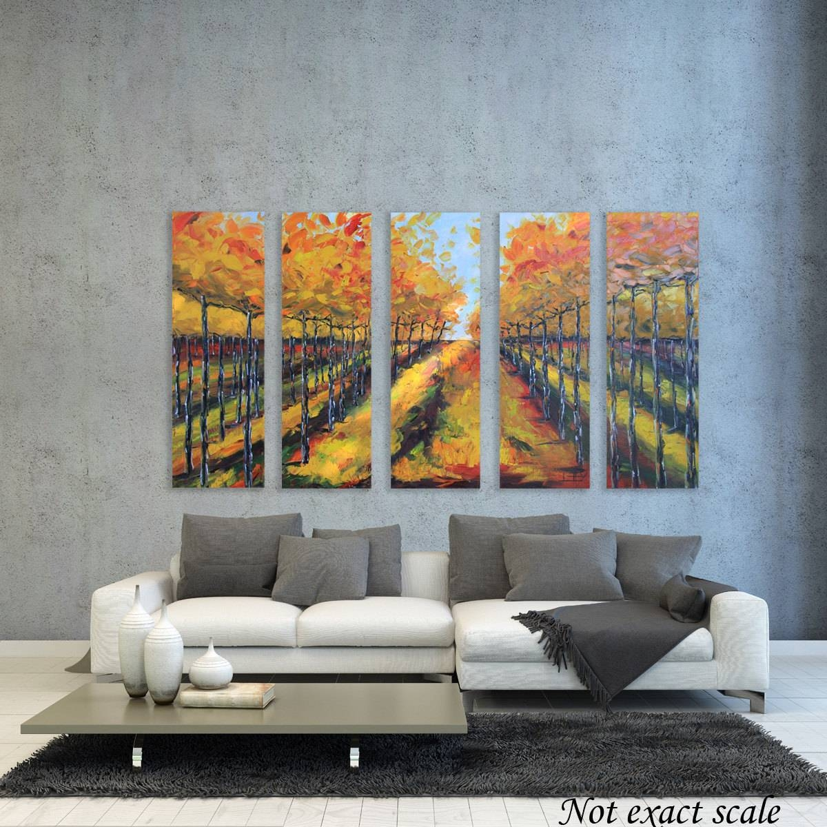 Vineyard Painting Napa Valley Art 60 Large Made To regarding Newest Vineyard Wall Art