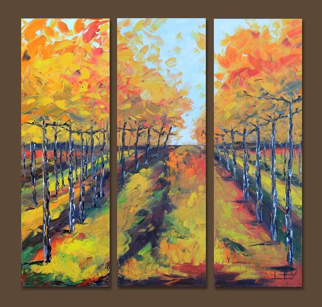 Vineyard Vines Art Vineyard Painting 36 Large Wall pertaining to Most Popular Vineyard Wall Art