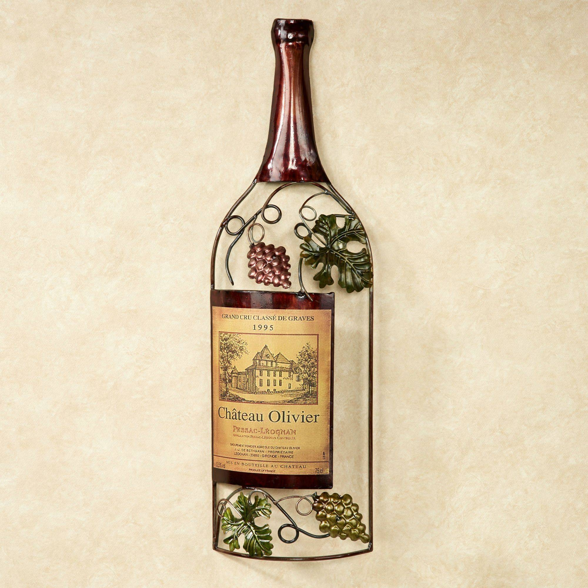 Vineyards Finest Wine Bottle Metal Wall Art Regarding Current Wine Metal Wall Art (Gallery 1 of 20)