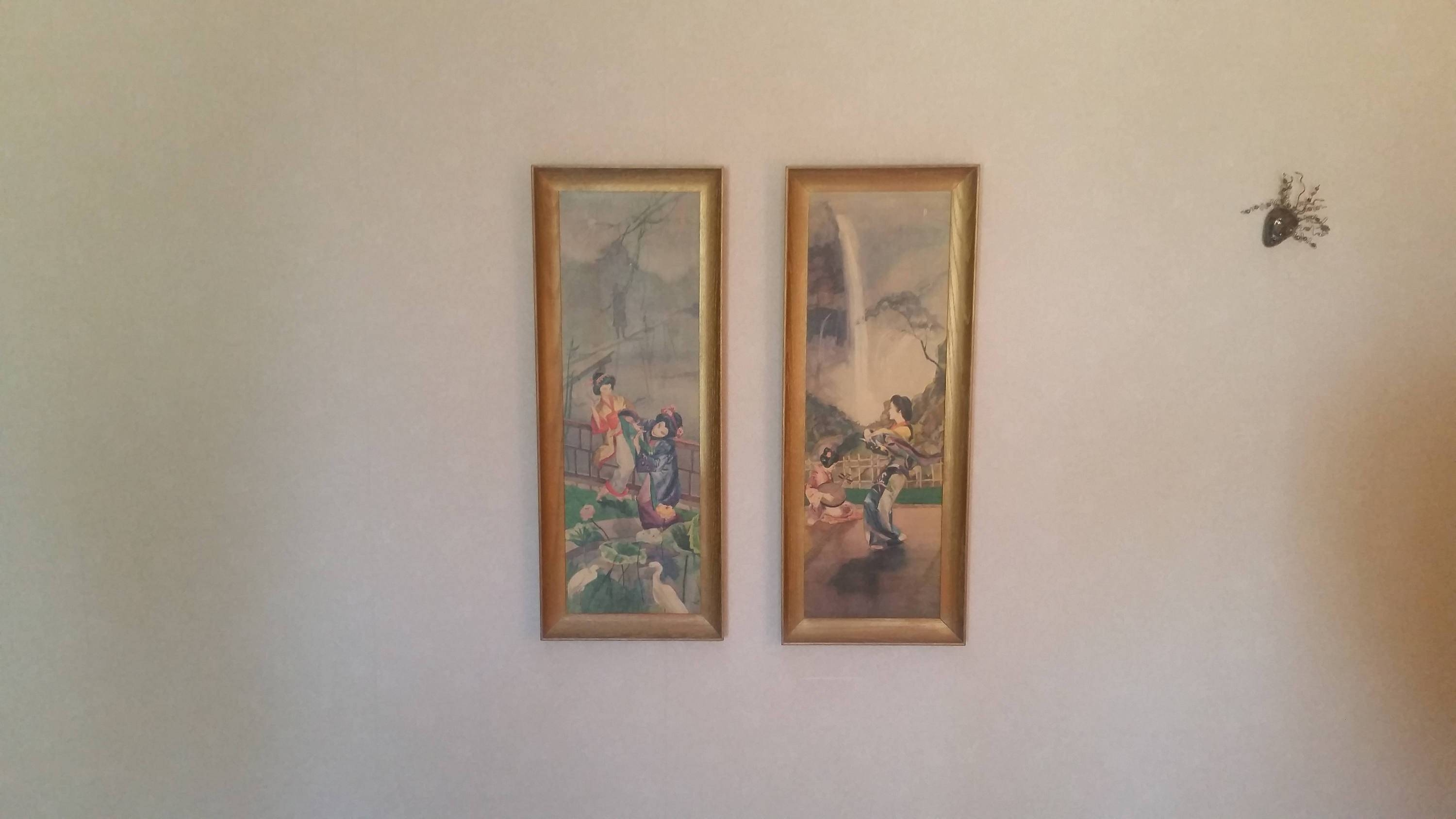 Vintage 1960's Japanese Framed Panels Mid Century Modern Pertaining To Most Recent Japanese Wall Art Panels (View 17 of 25)