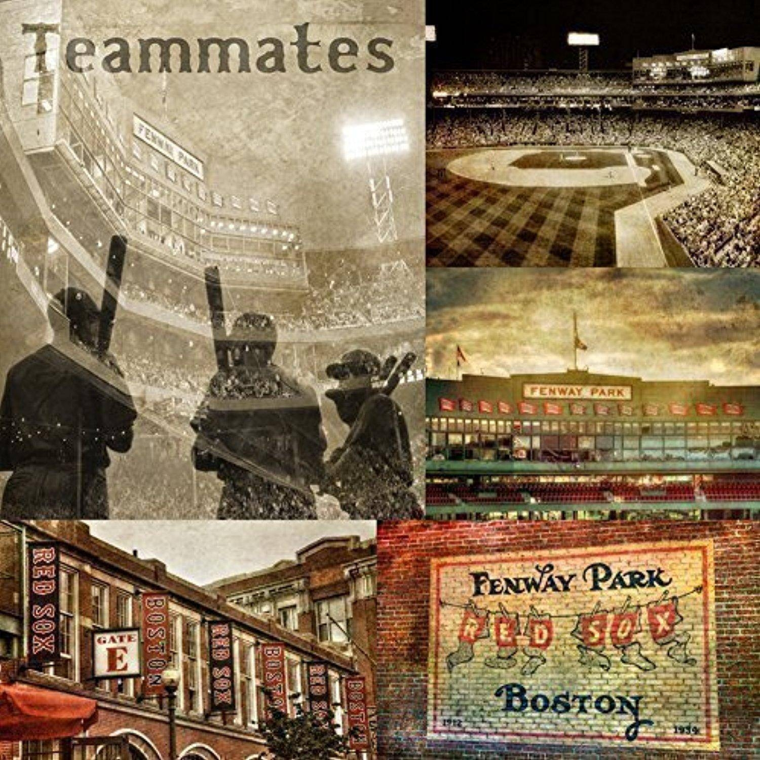 Vintage Fenway Park Print, Boston Sports Canvas, Red Sox Wall Art Pertaining To Most Recently Released Red Sox Wall Art (View 22 of 23)