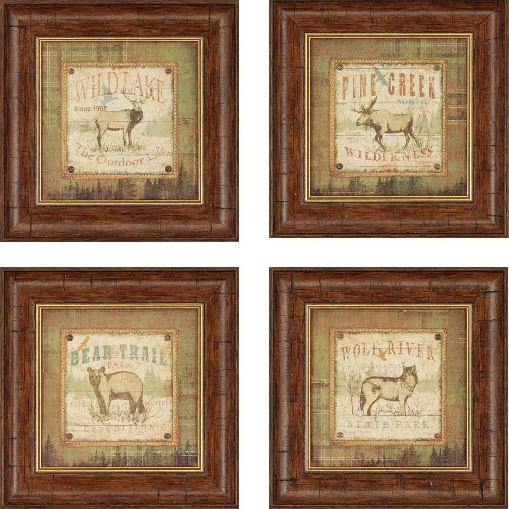 Vintage Framed Wall Art Set Of 2 ~ Home Decorations : Choosing Pertaining To Most Popular Brown Framed Wall Art (View 15 of 20)