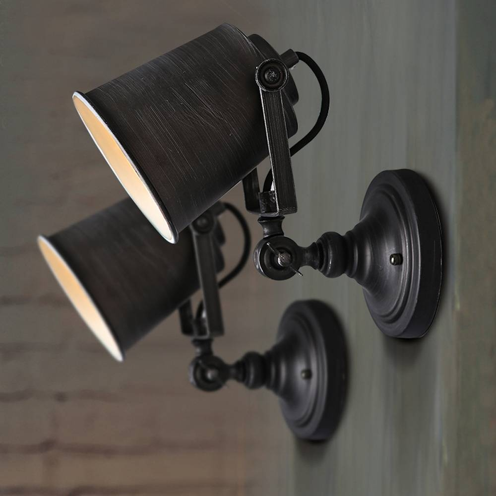 Vintage Industrial Wall Lights Add Security To Your Outdoor Space Pertaining To Best And Newest Vintage Industrial Wall Art (View 17 of 20)