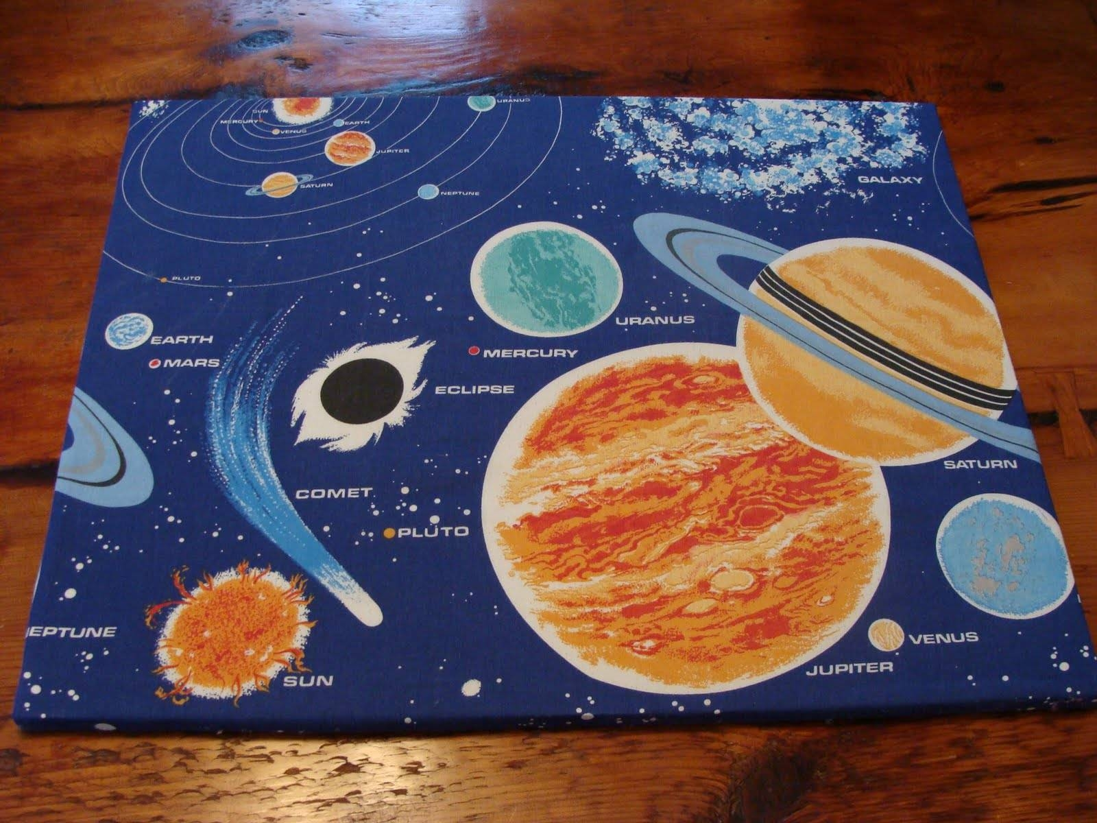 Vintage Pollyanna: Custom Solar System Wall Art From Upcycled 80S Inside Most Recent Solar System Wall Art (Gallery 5 of 25)
