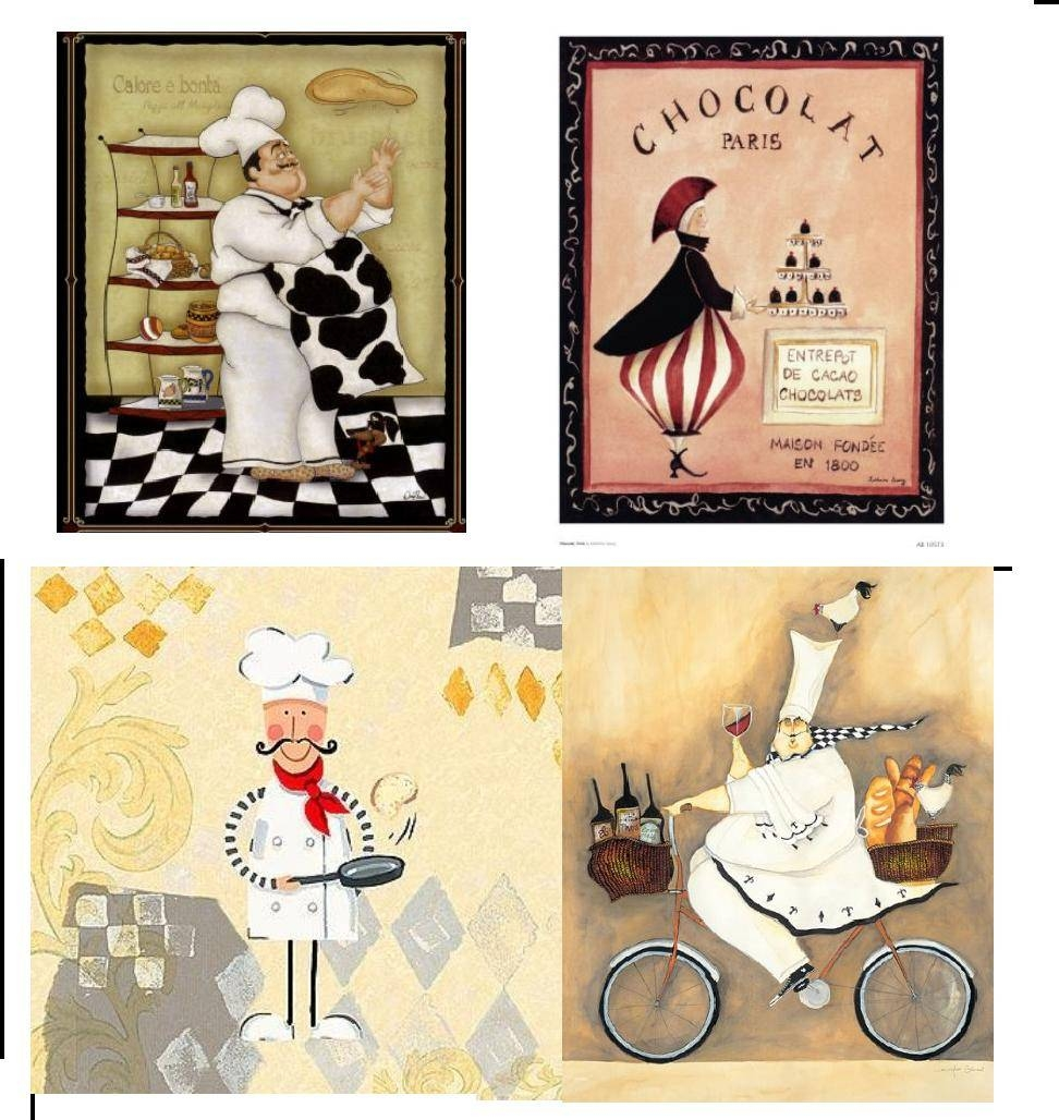 Vintage Theme Wall Art Reprints At Chef Decor | The Shopbug With Most Recent Paris Theme Wall Art (View 26 of 30)