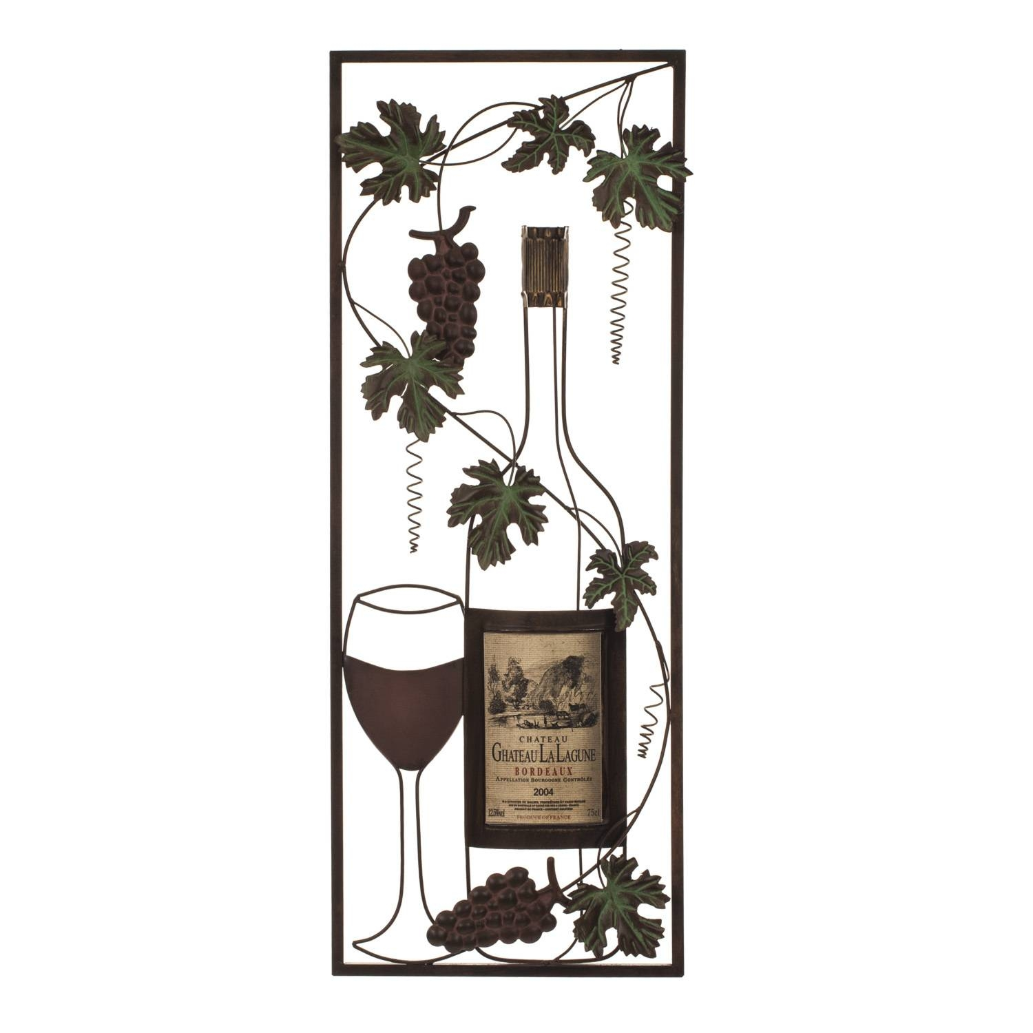 Vintage Wine Metal Wall Art Pertaining To 2018 Wine Metal Wall Art (View 16 of 20)