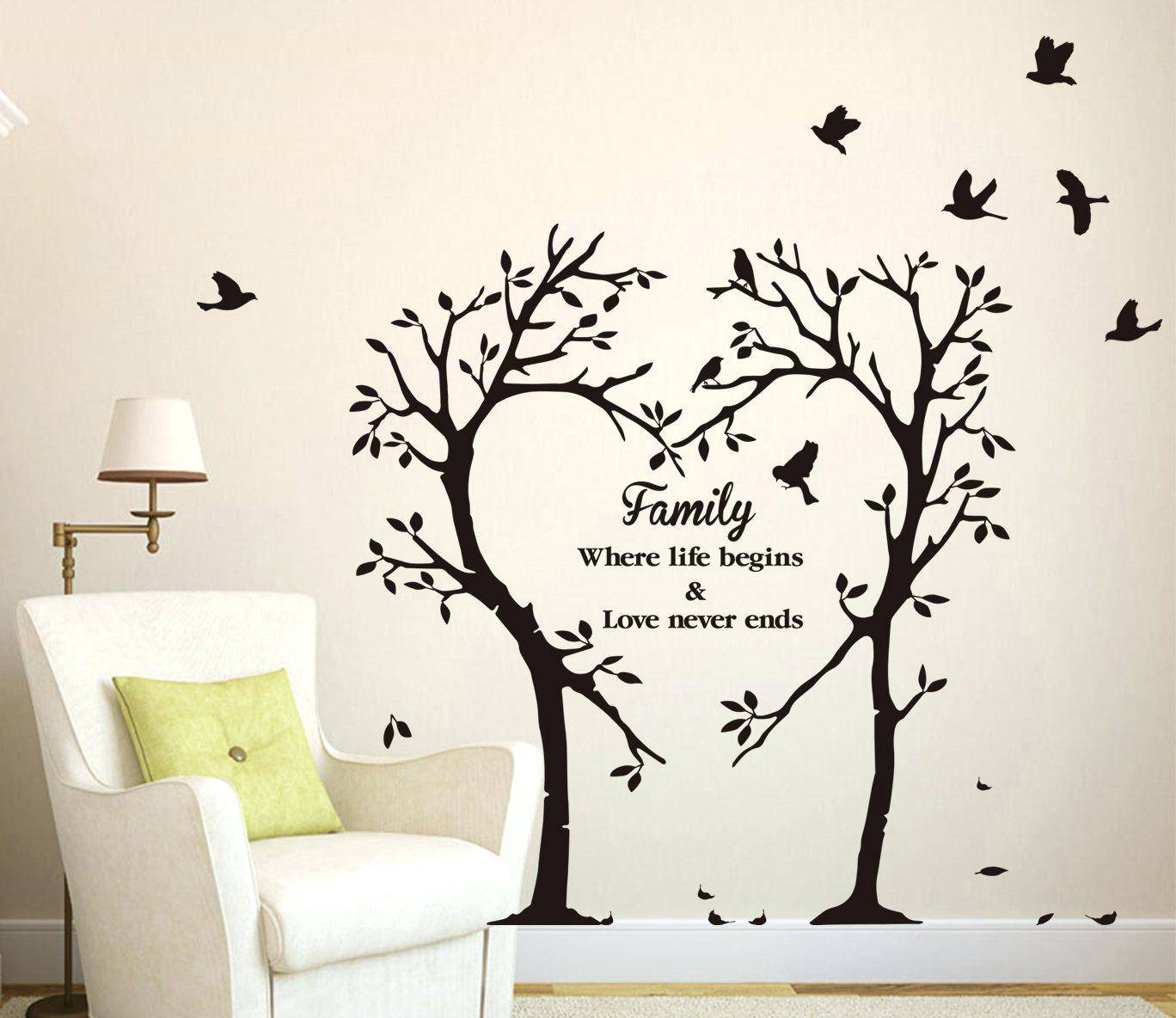 Vinyl Decal Wall Art – Gutesleben Intended For 2017 Vinyl Wall Art Tree (View 11 of 20)