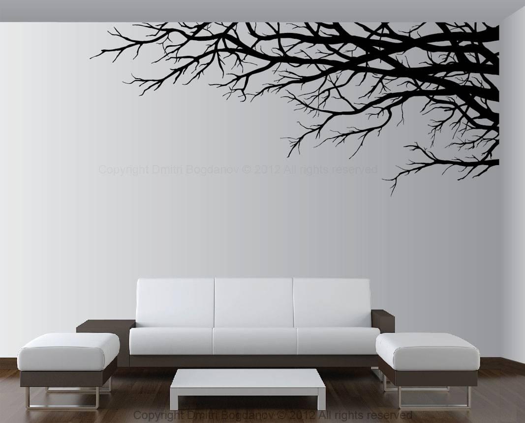 Vinyl Tree Wall Art Decals | Wallartideas Inside Most Current Vinyl Wall Art Tree (Gallery 5 of 20)