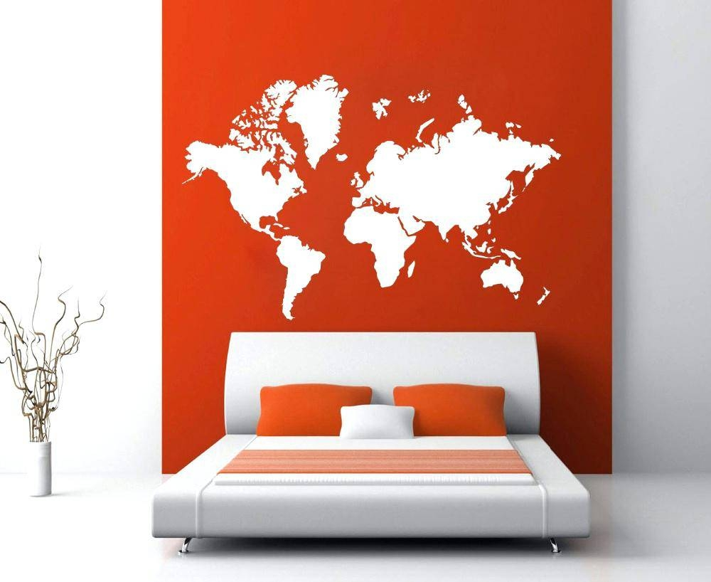Vinyl Wall Art Decal Sticker World Map – Gutesleben Regarding Most Recent Atlas Wall Art (View 12 of 20)