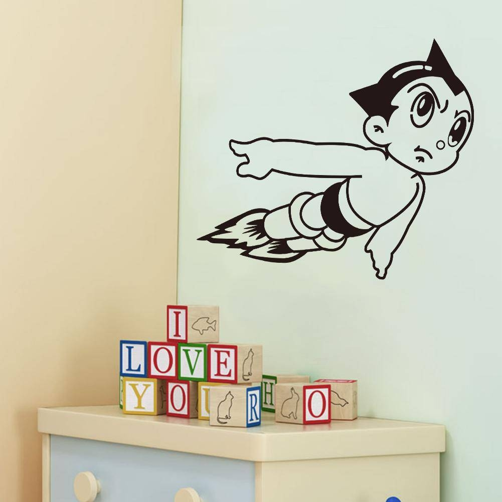 Vinyl Wall Art Stickers Astro Boy Cartoon Decals For Boys Room For Current Wall Art Stickers For Childrens Rooms (View 18 of 20)