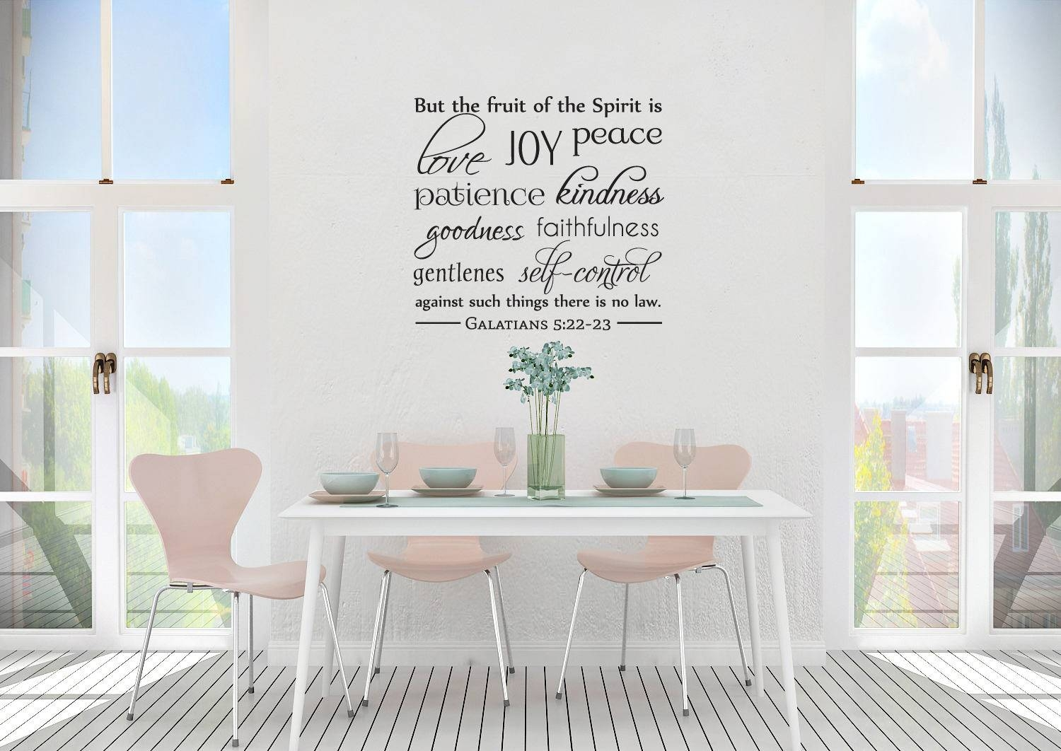 Vinyl Wall Art The Fruit Of The Spirit with Most Up-to-Date Fruit Of The Spirit Wall Art