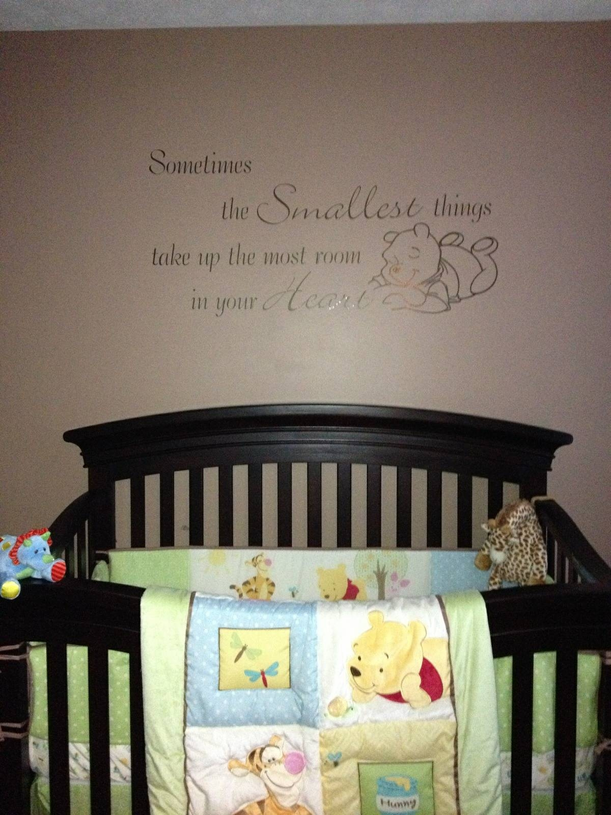 Vinyl Wall Art | Usa Signs Llc For Latest Winnie The Pooh Nursery Quotes Wall Art (View 9 of 20)