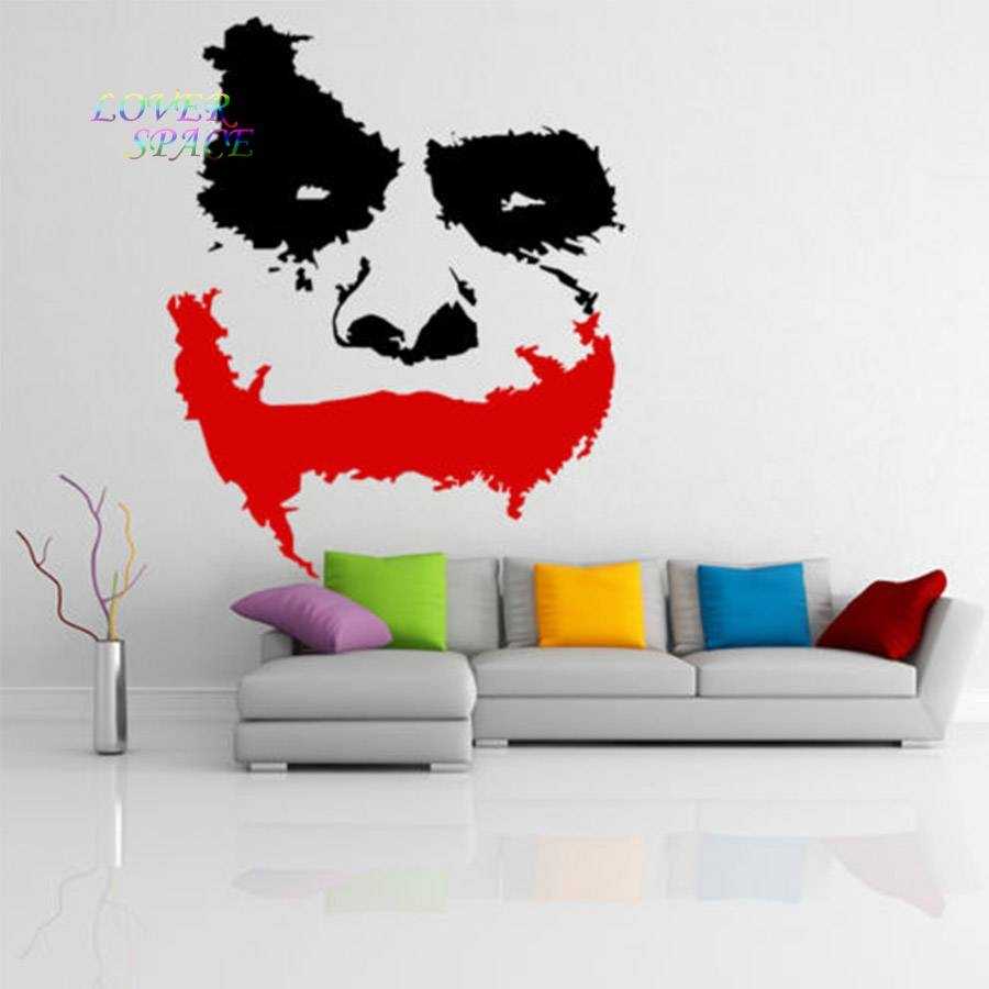 Vinyl Wall Decal Scary Joker Face Movie Batman The Dark Knight For Best And Newest Batman 3D Wall Art (Gallery 5 of 20)