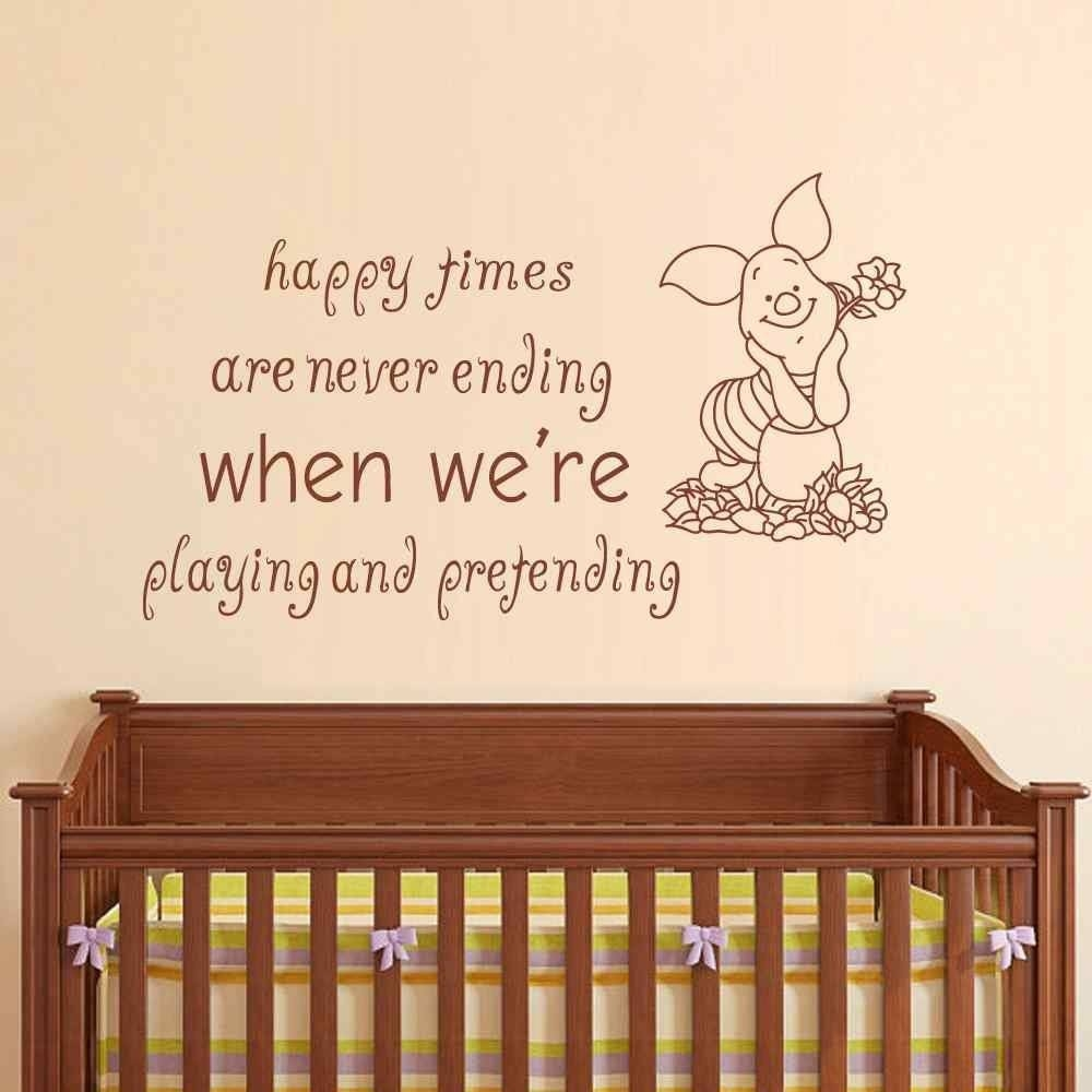 Vinyl Wall Stickers Picture – More Detailed Picture About Winnie Inside Most Recent Winnie The Pooh Nursery Quotes Wall Art (View 10 of 20)