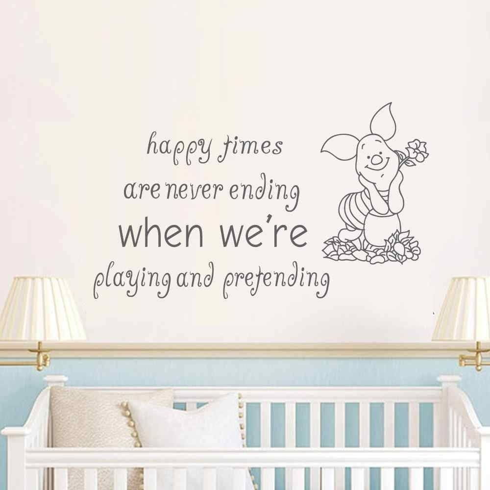 Vinyl Wall Stickers Picture – More Detailed Picture About Winnie Pertaining To Most Recently Released Winnie The Pooh Nursery Quotes Wall Art (View 11 of 20)