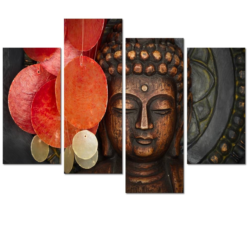 Visual Art Decor Large Buddha Painting Prints Wall Art Decor No Within Recent Buddha Wooden Wall Art (Gallery 5 of 20)