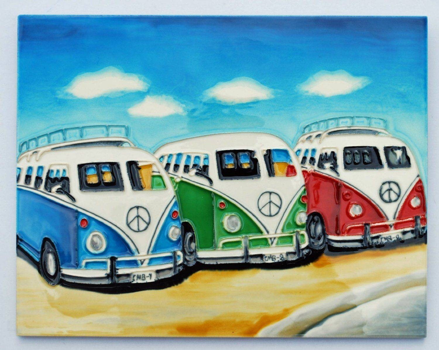 Vw & Mini Ceramic Art In Most Current Campervan Metal Wall Art (View 8 of 20)