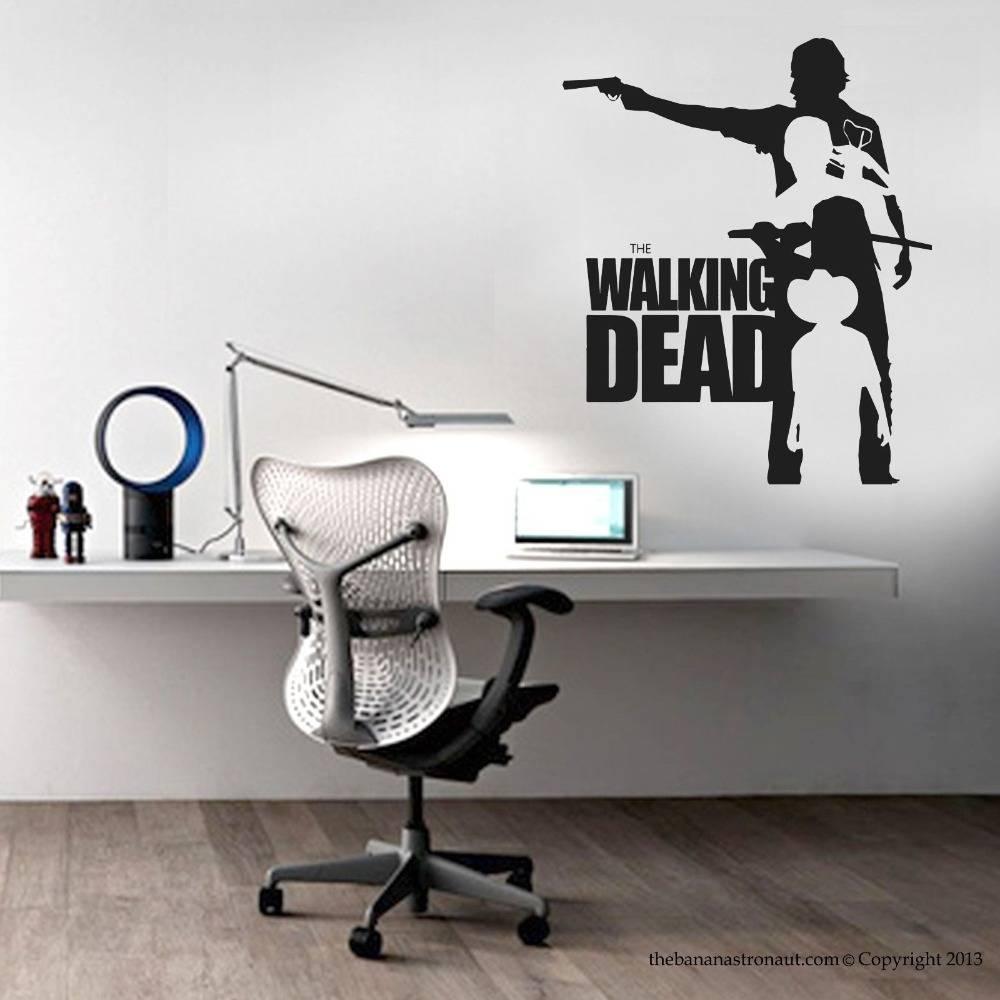Walking Dead Vinyl Wall Sticker Walking Dead Collection Mural Wall Inside Current Nba Wall Murals (View 24 of 25)