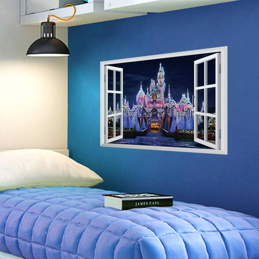 Wall And Window Decals Sea Castle : Ideas Wall And Window Decals Intended For Most Recently Released 3d Wall Art Window (View 20 of 20)