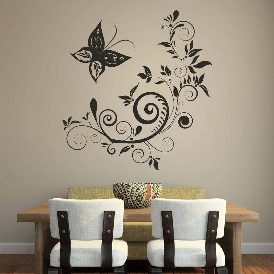 Wall Art | 15 Butterfly Wall Art Within Most Popular Butterflies Wall Art Stickers (View 18 of 20)