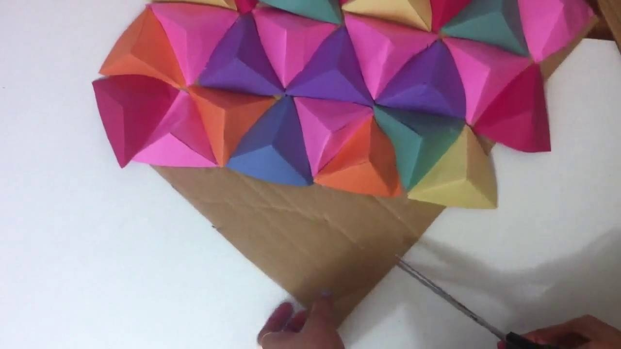 Wall Art 3D/paper Triangle Wall Art (View 24 of 25)