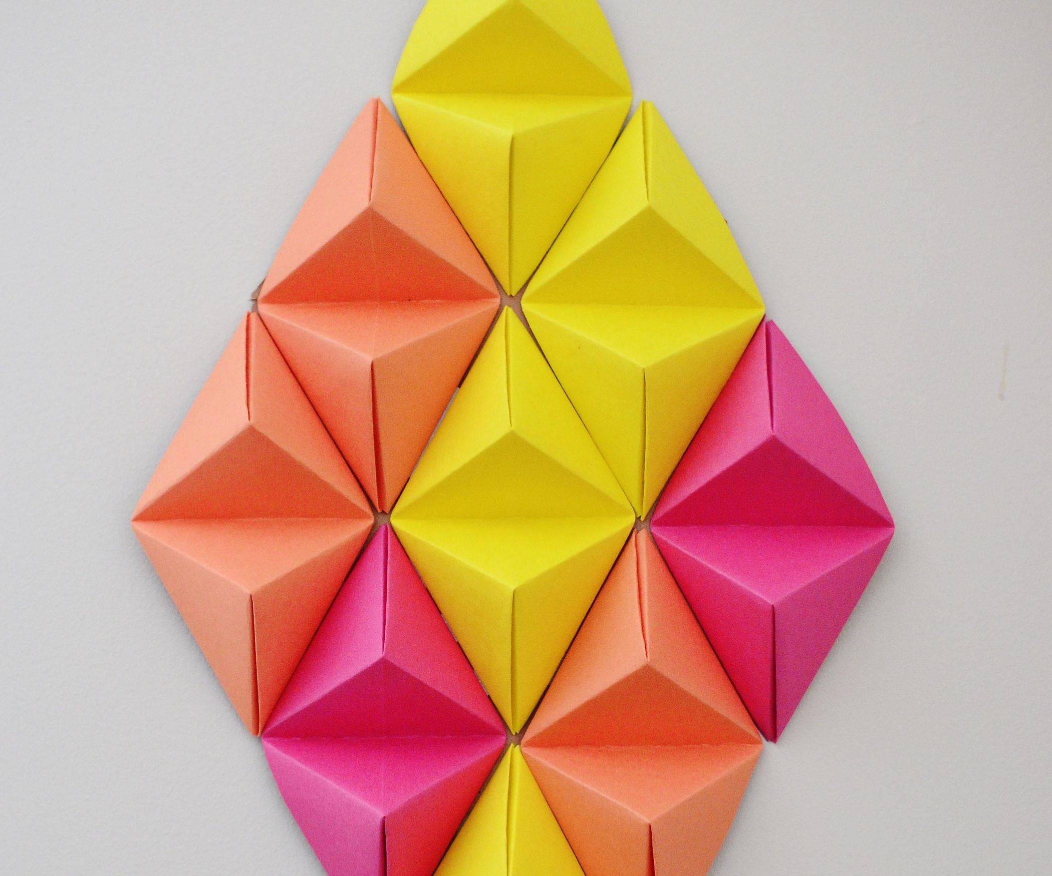 Featured Photo of 3d Triangle Wall Art