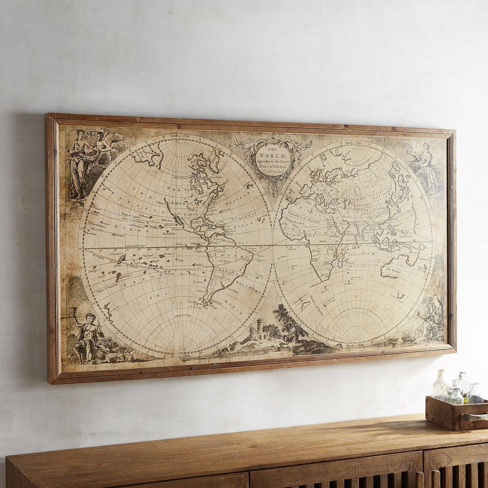 Gallery of framed world map wall art view 3 of 20 photos wall art amazing framed world maps enchanting and large map throughout most current framed world map gumiabroncs